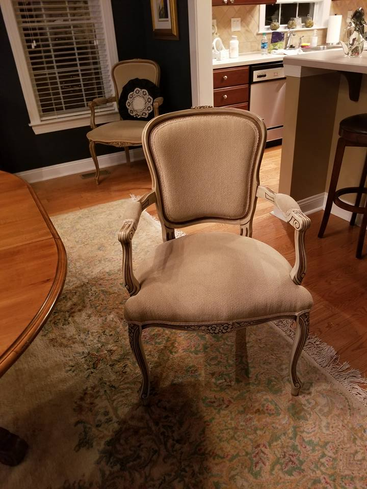 Before photo of dining chair